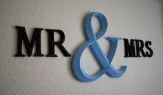Bedroom sign Mr & Mrs