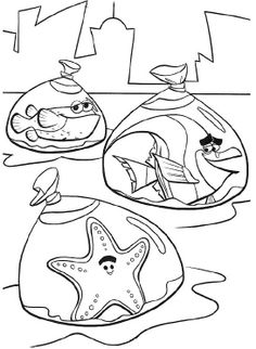 Finding Nemo Coloring Pages | Disney Coloring Pages | Pinterest ...