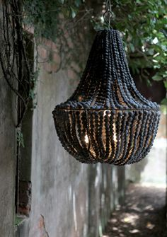 great texture on this black chandelier...