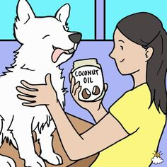 I love My Dog; Natural Pet Health,: Rub coconut oil onto your dog's coat 2 x per week Flea Medication For Dogs, Kill Fleas On Dogs, Coconut Oil For Fleas, Flea Remedies, Ticks Remedies, Natural Remedies, Oils For Dogs, Benefits Of Coconut Oil