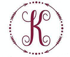 Custom Initial Monogram Vinyl Decal Bumper Sticker, for Tumblers, Laptops, Car Windows - Single Letter Circle with Arrow & Dot Design Cricut Monogram, Monogram Stickers, Monogram Initials, Monogram Letters, Vinyl Tumblers, Silhouette Vinyl, Dots Design, Bumper Stickers, Car Windows