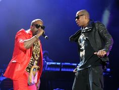 Jay-Z and Kanye West on stage!