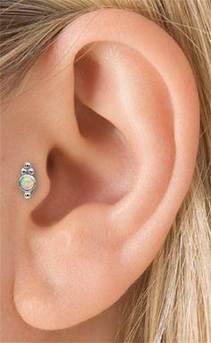 Opal Four Ball Trinity Tragus Threaded Stud