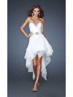 Blanco A-line/Princesse Abalorio Corazón Sin Mangas Asimétrico Satén Elástico Dress por €477,93