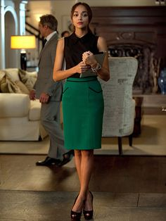 The actress, who plays Ashley Davenport, a social climbing publicist on the scandalous ABC hit, is always spot-on when it comes to her professional-yet-trendy style. If you ever need office outfit inspiration, she's your girl.
