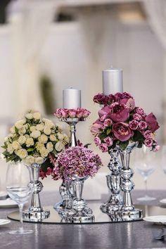 wedding dekor Candle Holders, Candles, Table Decorations, Silver, Wedding, Home Decor, Valentines Day Weddings, Decoration Home, Room Decor