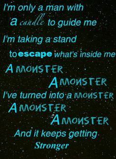 Imagine Dragons | Monster lyrics made on Papelook by Maddi Dominger