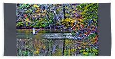 Fall Bath Sheet featuring the photograph Fall Flight - Digital Paint Rendering by Scott Hervieux