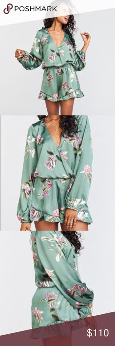 Rocky Romper in Laura Flora Super cute romper in great condition, worn once to an event and once for photos and I still have the tags. This romper is so flattering on. It is almost completely wrinkle proof and super comfortable. It's great for events where you have to travel because it will come out of your suitcase perfect. 💗 I'm a size 6 and still fit in the XS so it can work for a range of sizes 😊 Show Me Your MuMu Dresses