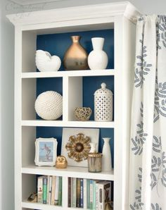 Bookshelf Ideas: 25 DIY Bookcase Makeovers You Have to See: Add Molding to Make It Look More Expensive