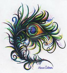 Bold Peacock by MarenBanker.deviantart.com on @deviantART