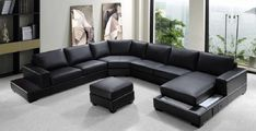 Oversized Leather Sectional Sofas