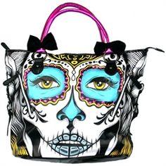 Iron Fist Lady Killer Day of the Dead Sugar Skull Handbag