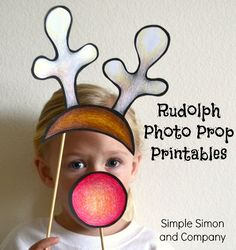 Holiday Photobooth Props (Printable Patterns) - Simple Simon and Company