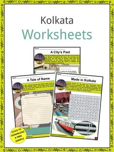 This is a fantastic bundle which includes everything you need to know about the Kolkata across 23 in-depth pages. These are ready-to-use Kolkata worksheets that are perfect for teaching students about the Kolkata which is the capital of West Bengal and is dubbed to be the London of India. It is eastern India's dominant urban center. Geography Worksheets, Social Studies Worksheets, Indian Literature, Geography For Kids, East India Company, Facts For Kids, West Bengal, Slums, Sign I