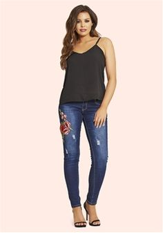 49cbd3ef49a316 Jessica Wright Jaime Embroidered Jeans £55.00 Keep up with the latest  trends and make every