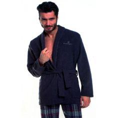 giacca da camera. giacca da uomo in caldo cotone tinta unita con ... - Giacca Da Camera Uomo Pile