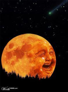 man in the moon face - Yahoo Image Search Results Moon Photos, Moon Pictures, Sun Moon Stars, Sun And Stars, Sonne Illustration, Moon Fairy, Moon Dance, Vintage Moon, Shoot The Moon