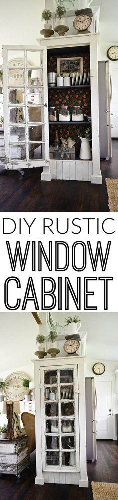 DIY Rustic window ca