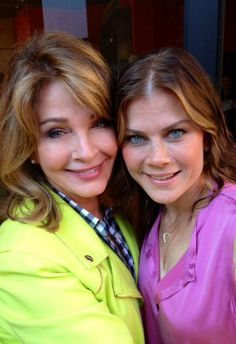 Alison Sweeney and Deidre Hall Behind the scenes Days of our Lives