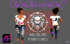 Rebel Girl Jeans Top Combo by TaInTeD ReBeL