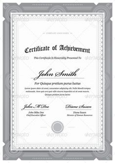 Vector Templates Of Certificates Design Set   Certificate