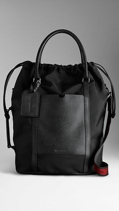 London Leather Nylon Tote Bag | Burberry