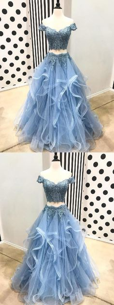 Prom Dresses Blue, Two Pieces Prom Dresses, Lace Evening Dresses, Long Prom Dresses Prom Dresses 2019 Wite Prom Dresses, Blue Lace Prom Dress, Short Sleeve Prom Dresses, Homecoming Dresses Long, Lace Party Dresses, A Line Prom Dresses, Lace Evening Dresses, Ball Dresses, Lace Dress
