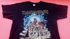 IRON MAIDEN Somewhere Back In Time British heavy metal compilation bruce dickinson eddie mascot egypt theme rare vintage t-shirt black XL by shirtsforeveryone17 on Etsy