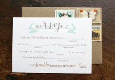 Molly + Jeff's Rustic Calligraphy Wedding Invitations