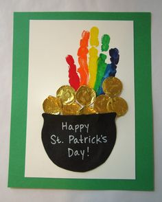 Preschool Crafts for Kids*: St. Patrick's Day Hand Print Rainbow Craft
