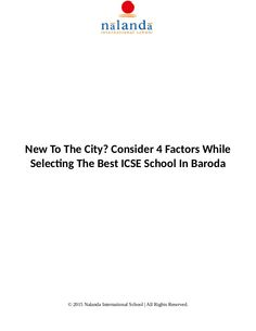 ICSE School In Baroda