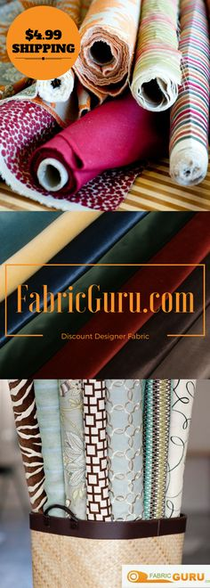 Fabricguru.com is your ultimate source for discount upholstery, drapery, and outdoor fabric. Fabricguru.com carries over 15,000 fabrics, with hundreds more being added every week. And shipping is only $4.99, no matter how much fabric you order. So, come visit fabricguru.com today and browse our large fabric selection, we know you'll find something that you love #fabricguru