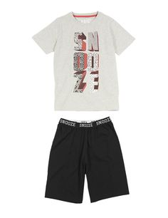 Snooze Slogan Stay Soft Short Pyjamas (6-16 Years)