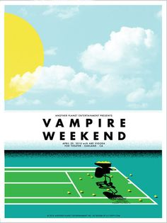 Vampire Weekend concert poster by Lil Tuffy