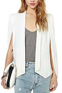 Suvotimo Women Casual Chiffon Asymmetric Business Suits Tops Outwear Jackets Blazer