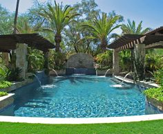 53 Best Resort Style Pools images | Resort style, Cool pools ... Ideas Pool Backyard Resort on texas pool landscaping ideas, resort pools for your back yard, water fall pool ideas, remodel pool ideas, resort master bedroom ideas, fire pit pool ideas,