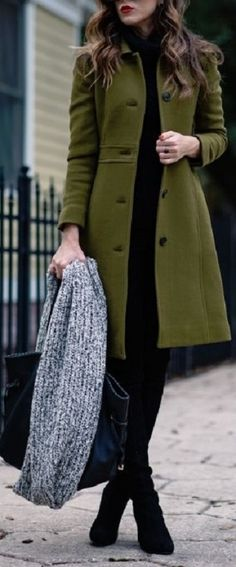 casaco longo de cores quentes - caqui
