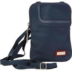 Hadaki Mobile Crossbody - Indian Teal - Crossbody Bags ($26) ❤ liked on Polyvore featuring bags, handbags, shoulder bags, blue, indian purse, blue crossbody purse, cross body travel purse, blue handbags and crossbody travel purse