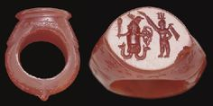 "A ROMAN CARNELIAN ""MAGIC"" FINGER RING   CIRCA 4TH-5TH CENTURY A.D."