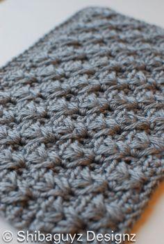 Week #3 Scavenger Hunt Block free crochet pattern for National Crochet Month with Shibaguyz Designz - Crochet Gives Back. Afghan blocks for Warm Up America.