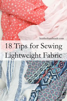 Do you hate sewing lightweight fabrics because they are so frustrating? Use these tips to make them easy to sew! I think I can sew a fancy dress in lightweight fabric with these tips!  Tips for Sewing Lightweight Fabric // heatherhandmade.com #sew #sewing #howtosew #learntosew #lightweight #fabric #lightweightfabric #chiffon #challis #lining #charmeuse