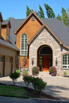 House Plan 2433 -The Hutchcroft | houseplans.co I love the mix of the materials.