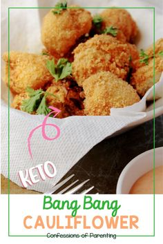 Keto bang bang cauliflower transforms a boring vegetable into an amazing appetizer or side dish! I can't get enough! Bang Bang Cauliflower, Cauliflower Bites, Cauliflower Recipes, Healthy Foods To Eat, Healthy Eating, Low Carb Recipes, Vegan Recipes, Best Appetizers, Plant Based Diet
