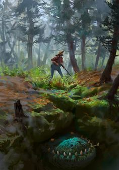 ArtStation - Where are you, little creature?, Mike Azevedo