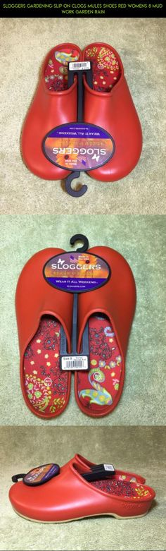 Sloggers Gardening Slip On Clogs Mules Shoes Red Womens 8 Mud Work Garden Rain #gadgets #gardening #racing #technology #camera #kit #drone #clogs #products #parts #tech #plans #shopping #fpv