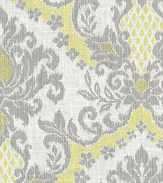 Home Decor Print Fabric- Waverly - Bedazzle Silver Lining - Curtain Possibility