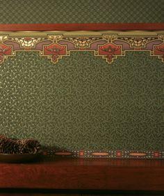 Arcadia Border, Avalon and Glenwood Wallpapers in Forest Green – Bradbury & Brad… Arcadia Border, Avalon und Glenwood-Hintergründe in Forest Green – Bradbury & Bradbury Art Wallpapers Craftsman Interior, Craftsman Style, Unique Wallpaper, Of Wallpaper, Craftsman Wallpaper, Mission Style Homes, Art Nouveau, Art Deco, Victorian Wallpaper