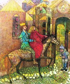""".Иллюстратор Adrie Hospes.Автор Brothers Grimm.Сказка """"Шесть лебедей"""".Страна Великобритания.Год издания 1973.Издательство Bodley Head.Купить книгу или переиздание..amazon.com.......................Источник иллюстраций:..."""