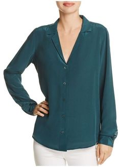 Adalyn Blouse in Eden Green by Equipment